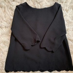 Black Scalloped Top